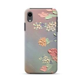 art フラワー 油絵 花 flower アート iPhone XR ハイブリッド タフケース