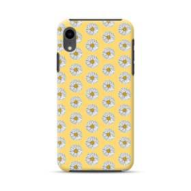 フラワー・カモミールのパターン iPhone XR ハイブリッド タフケース