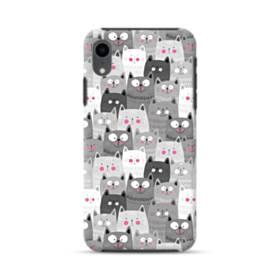 多くの子猫 iPhone XR ハイブリッド タフケース