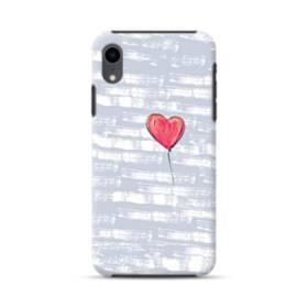 ハートバルーン iPhone XR ハイブリッド タフケース