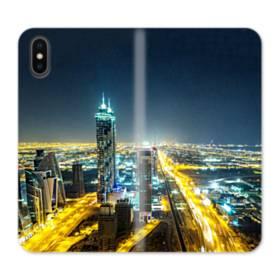 ザ・シティー夜景01 iPhone XS 合皮 手帳型ケース