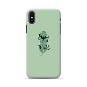 デザイン アルファベット011 enjoy the little things iPhone XS ポリカーボネート ハードケース