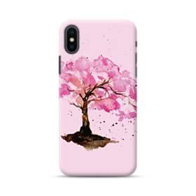 水彩画・桜の木 iPhone XS ポリカーボネート ハードケース