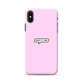 デザイン・アルファベット:daddy's girl iPhone XS ポリカーボネート ハードケース