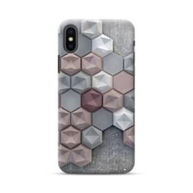 つぶつぶ六角形 iPhone XS ポリカーボネート ハードケース