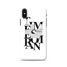 デザイン 白黒系アートなアルファベット iPhone XS ポリカーボネート ハードケース