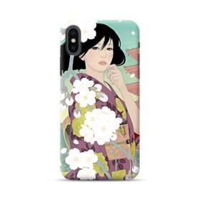 ザ・桜&ジャパンガール! iPhone XS ポリカーボネート ハードケース