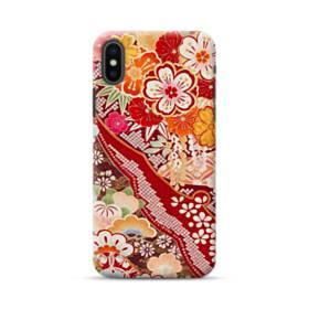 和・花柄 iPhone XS ポリカーボネート ハードケース