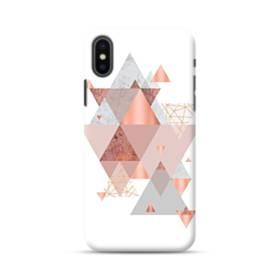 Geometry line pink ジオメトリック 幾何図 三角 抽象的  iPhone XS ポリカーボネート ハードケース