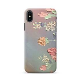 art フラワー 油絵 花 flower アート iPhone XS ポリカーボネート ハードケース