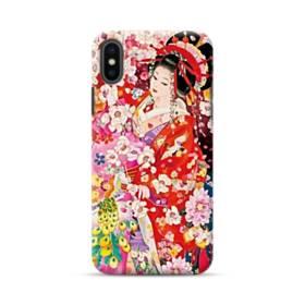 和・花魁&桜 iPhone XS ポリカーボネート ハードケース