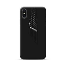 クールなブラック系パターン001 iPhone XS ポリカーボネート ハードケース
