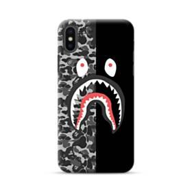 面白いブラック・スーパー ミ(super me) iPhone XS ポリカーボネート ハードケース