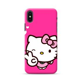 永遠に可愛い!キティちゃん iPhone XS ポリカーボネート ハードケース