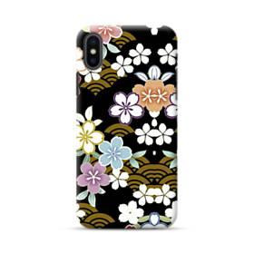 和風・桜&浪 iPhone XS ポリカーボネート ハードケース