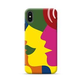 抽象的・顔 iPhone XS ポリカーボネート ハードケース