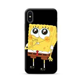 可愛いスポンジボブ iPhone XS ポリカーボネート ハードケース