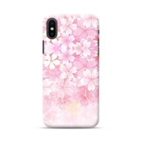 爛漫・ピンク&桜色 iPhone XS ポリカーボネート ハードケース