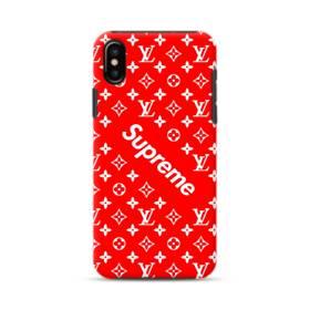 ルイ・ヴィトン&シュプリーム赤バージョン) iPhone XS ポリカーボネート タフケース