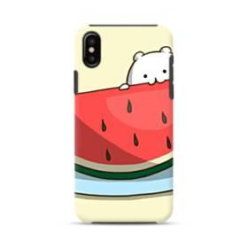 可愛い・ザ・スイカ iPhone XS ポリカーボネート タフケース