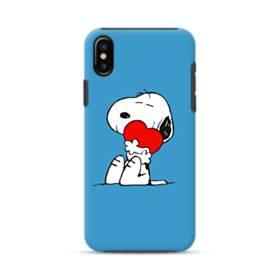 かわいい スヌーピー iPhone XS ポリカーボネート タフケース