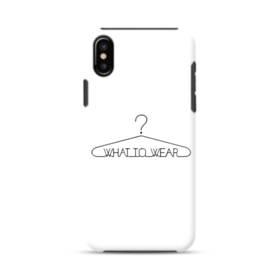 デザイン アルファベット004 what to wear iPhone XS ポリカーボネート タフケース