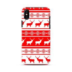 北欧風クリスマス モチーフ iPhone XS ポリカーボネート タフケース