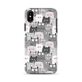多くの子猫 iPhone XS ポリカーボネート タフケース