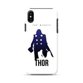 映画アート:マイティ・ソー (Thor) ホワイト&ブルー iPhone XS ポリカーボネート タフケース