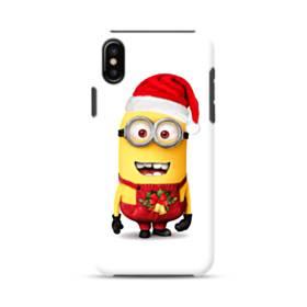 メリー クリスマス キュートなミニオンズ iPhone XS ポリカーボネート タフケース