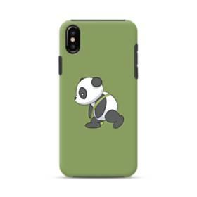 眠たい・パンダ iPhone XS ポリカーボネート タフケース