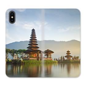 ザ・寺院01 iPhone XS Max 合皮 手帳型ケース