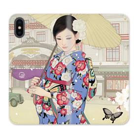 こんにちは、ジャパンガール! iPhone XS Max 合皮 手帳型ケース