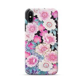 和の花柄 iPhone XS Max ポリカーボネート ハードケース