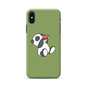 飲んでる・パンダ iPhone XS Max ポリカーボネート ハードケース