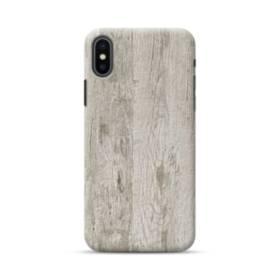 シンプルな北欧風 ホワイト木目 iPhone XS Max ポリカーボネート ハードケース
