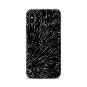 流れ星 モノクローム iPhone XS Max ポリカーボネート ハードケース