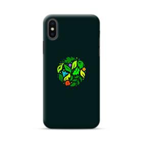ブラック グリーン リーフ まる 葉っぱ シンプル iPhone XS Max ポリカーボネート ハードケース