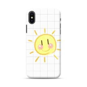 小学校の思い出 格子 お日さま 白 ホワイト かわいい iPhone XS Max ポリカーボネート ハードケース