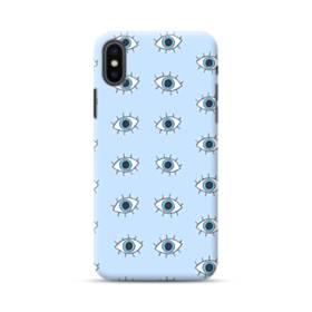 可愛い・目のモチーフ iPhone XS Max ポリカーボネート ハードケース