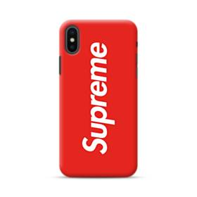 ニューヨークより赤のシュプリーム(super me) iPhone XS Max ポリカーボネート ハードケース