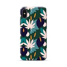 暖かい色系のアートなパターン iPhone XS Max ポリカーボネート ハードケース