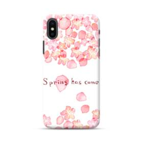 桜&デザイン英文 iPhone XS Max ポリカーボネート ハードケース