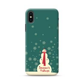 メリー クリスマス 雪だるま iPhone XS Max ポリカーボネート ハードケース