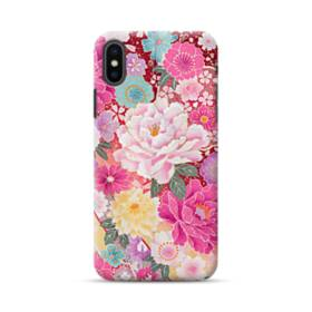 和の花柄:牡丹 iPhone XS Max ポリカーボネート ハードケース