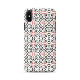 モザイクタイルのようなアートなパターン iPhone XS Max ポリカーボネート ハードケース