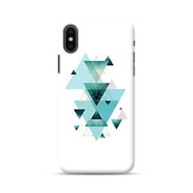 Geometry ジオメトリック 幾何図 藍 三角 ライン 抽象的 ブルー iPhone XS Max ポリカーボネート ハードケース