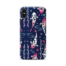和柄:桜&錦鯉 iPhone XS Max ポリカーボネート ハードケース