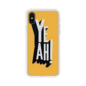 デザイン アルファベット:yeah iPhone XS Max TPU クリアケース