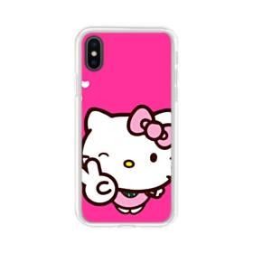 永遠に可愛い!キティちゃん iPhone XS Max TPU クリアケース